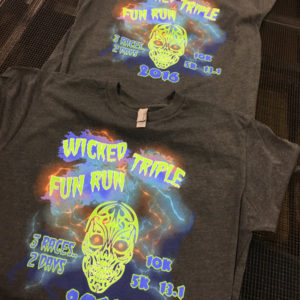 Wicked Triple Fun Run Race Shirts